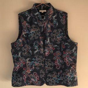 Talbots Fall Print Vest